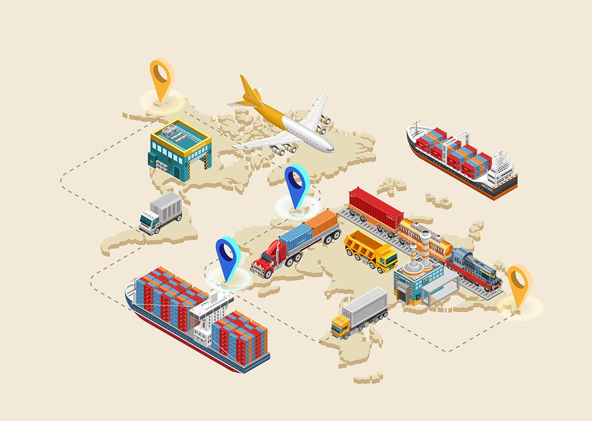 Transportoptimierung und Lageroptimierung